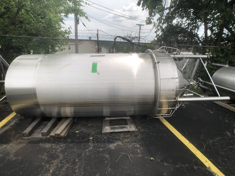 "Grace Machinery 1,000 Gallon Cone Bottom S/S Single Wall Verticle Tank, Size 3500, S/N 140107, Bottom Injector Manifold Top Mounted Access Panel, with Side Mount Inline Filler, S/S Legs, (Aprox. Overall Dimensions 115""H x 64""W), (W769)(Rigging & Loading Fee $500.00) (M Davis Group Auction Showroom in Pittsburgh, PA)"