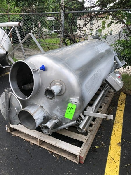 "KSR Kuebler BNA Approx. 350 gallons S/S Tank, S/N 834491-1/2009, Approx. Dims: 3' Dia. X 6'6"" H, PSI: 10 bar, PT: 15 bar, TS: -10...+100 Degree C, 316 L S/S, Chamber Mat: 1.457-1, Connections: DN20/PN16/C, Float: ZVSS-200/R48H, Roller Display: MRA, S.G: 850. KG/m, C to C (M): 1640 mm(Located at M Davis Group Auction Showroom in Pittsburgh, PA)(Rigging & Handling Fee $200.00)"