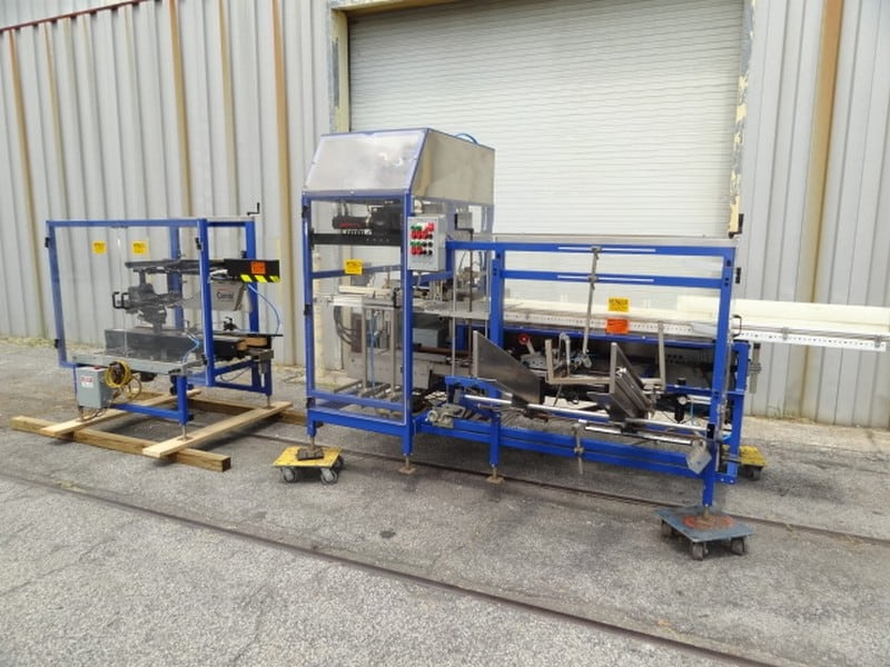 Combi SPP System (Servo Pick & Place) with Case Erector, Packer & Sealer; 480v-3ph-60Hz; S/N SPP0110146694; Loading $0 (Located in Charleston, SC)