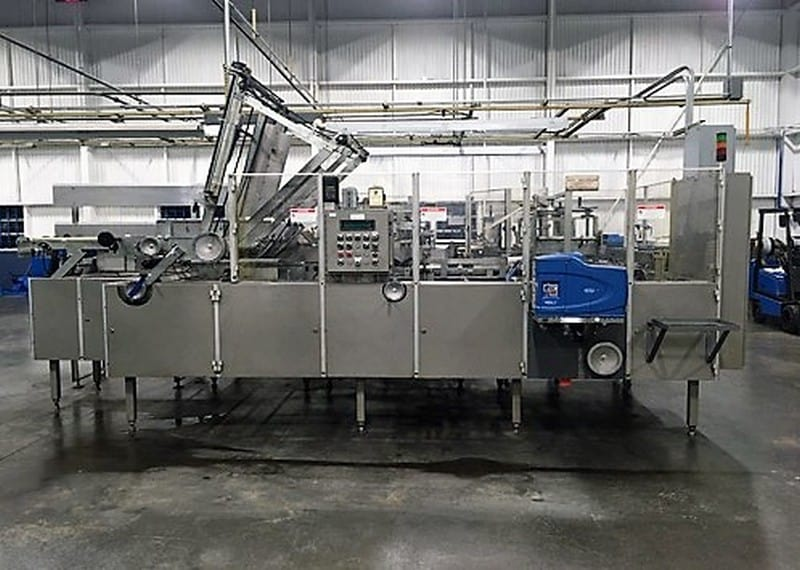 Douglas Machine WACP-21 Wrap-Around Case Packer with Nordson ProBlue 10; 480v-3ph-60Hz; S/N M-2234; Loading $0 (Located in Chehalis, WA)