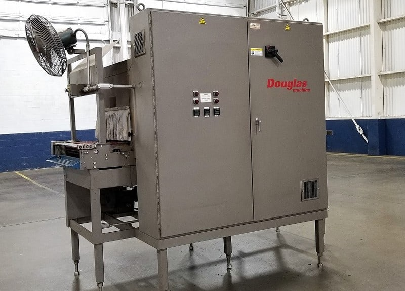 Douglas Machine SR4-624 Shrink Wrapper & Heat Tunnel; 480v-3ph-60Hz; S/N M-4084; Loading $0 (Located in Chehalis, WA)