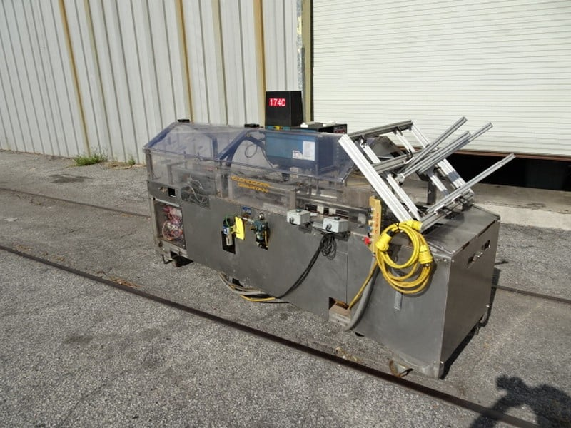 Econocorp Econoseal Spartan 1-5879 Hand-load Cartoner with Nordson glue tank; 220v-1ph-60Hz; S/N 6120; Optional bottom skid for $350 - Loading $0 (Located in Charleston, SC)