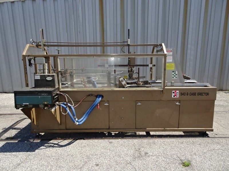 MTC 540-G Case Erector with Nordson glue tank; S/N 12014; Optional bottom skid for $350 - Loading $0 (Located in Charleston, SC)