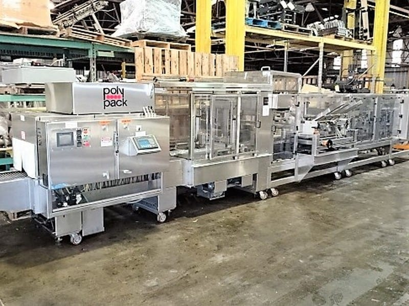 Polypack CFH 16-24-32 VL Continuous Forming Head Shrink Wrapper & Tunnel with MGS pad placer; 480v-3ph-60Hz; S/N 3477; Loading $0 (Located in Charleston, SC)