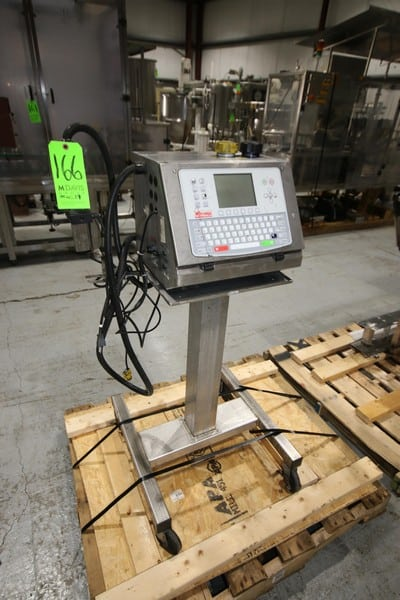 G-Tronix Ink Jet Coder, M/N Ci700, S/N 0410200A, with Ink Head, Mounted on Portable S/S Frame (W928) (Rigging & Loading Fee $50.00) (Located in Pittsburgh, PA)
