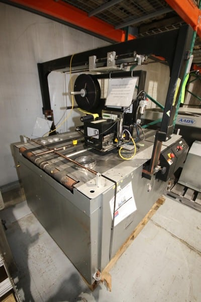 Kirk-Rudy Box Labeler, M/N 219V-36, S/N 1201-1660, 220 Volts, 1 Phase, 60 Hz, Includes Zebra Print System, M/N 170 PAX4(Rigging & Loading Fee $150.00) (Located in Pittsburgh, PA)