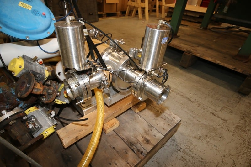 "XM.N. Engineering Piston Filler, M/N DR92, S/N 1, 3"" Clamp Type Inlet/Outlet, with Allen Bradley MicroLogix 1100, with Steam Piping & Valving (Rigging & Loading Fee $150.00) (Located in Pittsburgh, PA)"