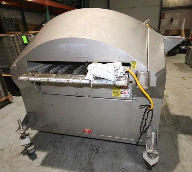 "Nothum Versa Coater Preduster / Breader, Model VC-40, S/N 45720705, with 40""W Belt & Enclosed Hood Assembly, (C1/W837)(Rigging & Loading Fee $200.00) (Located in Pittsburgh, PA)"
