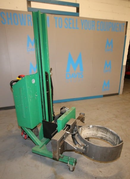 Valley Craft 800lb. Capacity Walk Behind Forklift, Electric Barrel Lifter, S/N A313286A 0910, with Tilt Capability, 7,609 Metered Hours, Self Contained Charger, (C29/W963)(Rigging & Loading Fee $100.00) (Located in Pittsburgh, PA)