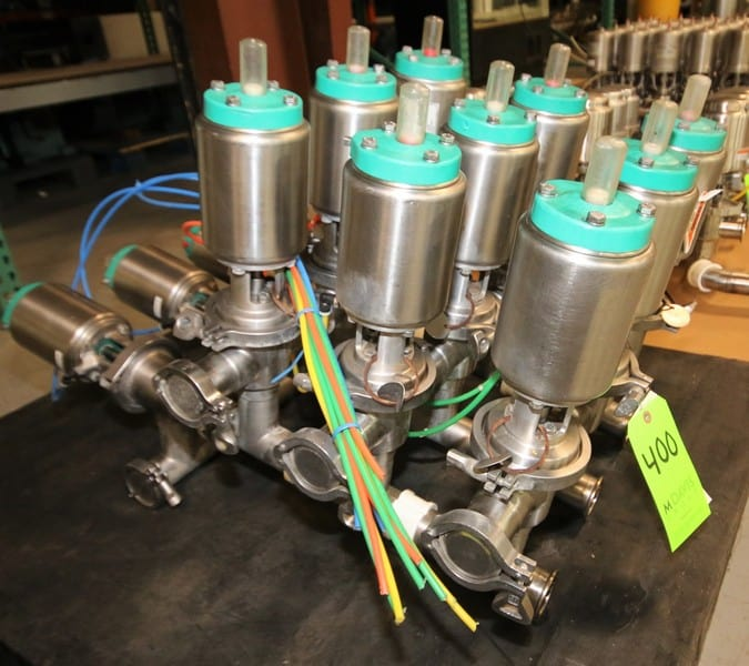 "12-Valve Tri-Clover 2"" S/S Air Valve Manifold /Cluster, with Model 761 Valves (C1/W178)"
