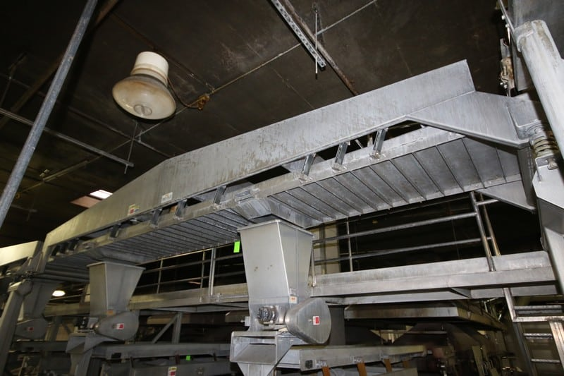 "Key S/S Distribution Shaker Deck, M/N 432243-1, S/N 03-105199, Deck Dims.:  Aprox. 20' L x 36"" W (NOTE:  Fed Roasters 5 & 6)"