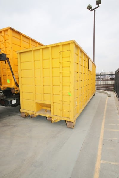 40 yd. Roll-Off Dumpster, Overall Dims.:  Aprox. 23' L x 8' W x 8-1/2' H