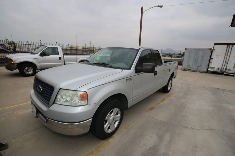 2004 Ford Silver F-150 Pick Up Truck, with Crew Cab, VIN #:  1FTRX12W74NB46219, with 6-1/2' Bed
