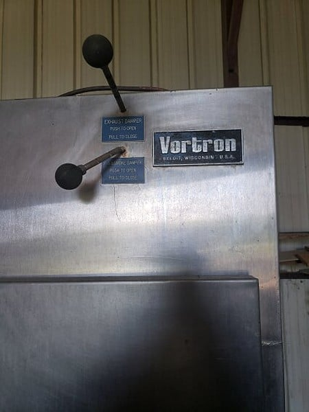 Vortron Single Rack Smoke House, with One Rack & Smoke Generator, 240 Volts, 3 Phase, 60 Hz (***Located in Douglas, GA)