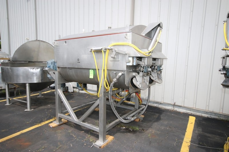 MTC 3,000 lb. S/S Dual Motion Blender, M/N SC-3000, S/N 10187, with (2) Drives, with Hydraulic Lid Opening System (Rigging & Loading Fee $500.00)(Located in Pittsburgh, PA)
