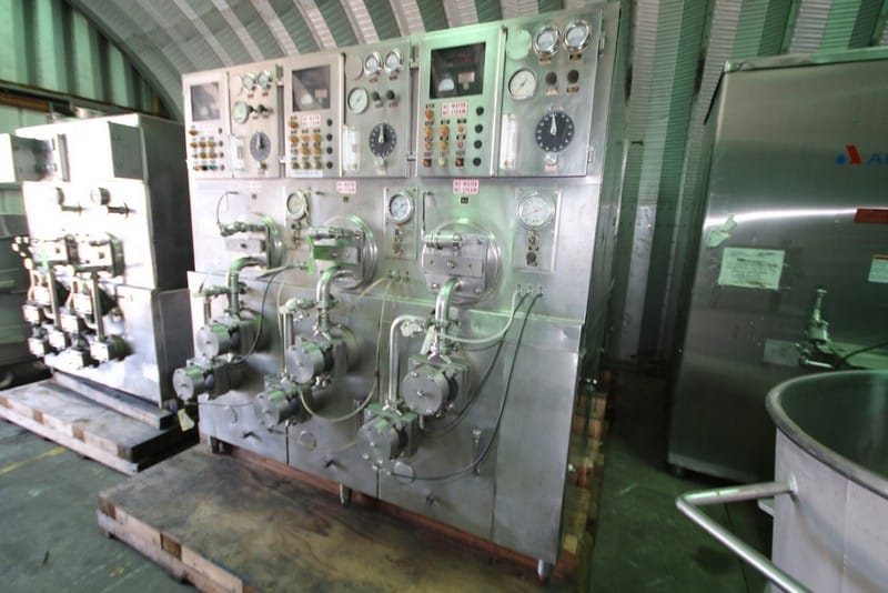 Crepaco 3-Barrel S/S Ice Cream Freezer, S/N D-4645-W3126, with Gauges and Valves, Includes Some Spare Parts (Rigging & Loading Fee $450.00) (Located in Pittsburgh, PA)