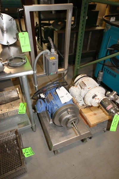 IKA Works Dispax-Reactor, Type DR3-6A, S/N 0666, Reliance 7.5 hp, 3520 rpm, 230-460V 3 Phase, Mounted on S/S Cart, with Casters, with Allen Bradley Controls (W1004) (Rigging & Loading Fee $50.00)(Located in Pittsburgh, PA)