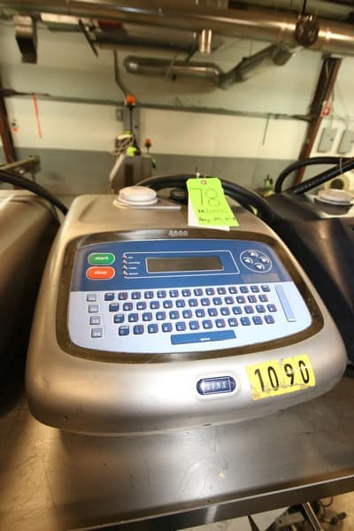 Linx Ink Jet Coder, M/N 4900, S/N BZ160, with Ink Head (Rigging & Loading Fee $75.00) (Located in Pittsburgh, PA)