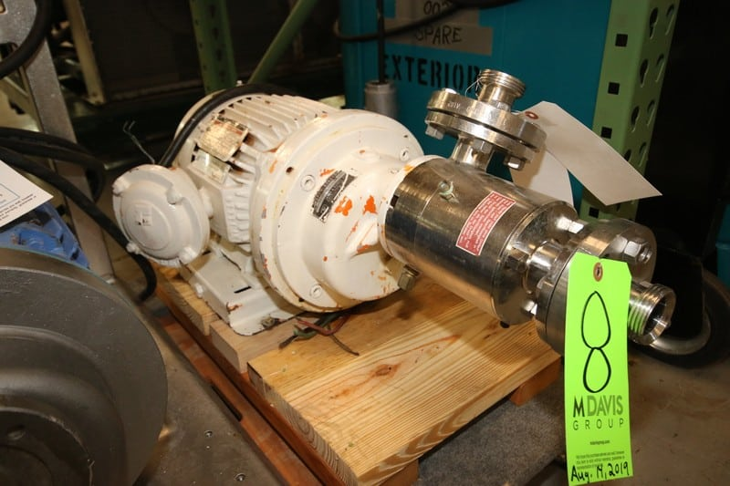 "Janke and Kunkel Dispax-Reactor, Type DR3-6-6, S/N 164, 1.5"" x 1.5"" Threaded S/S Head, Reliance 5 hp, 3485 ppm, 230-460V 3 Phase Motor (W1003) (Rigging & Loading Fee $50.00)(Located in Pittsburgh, PA)"