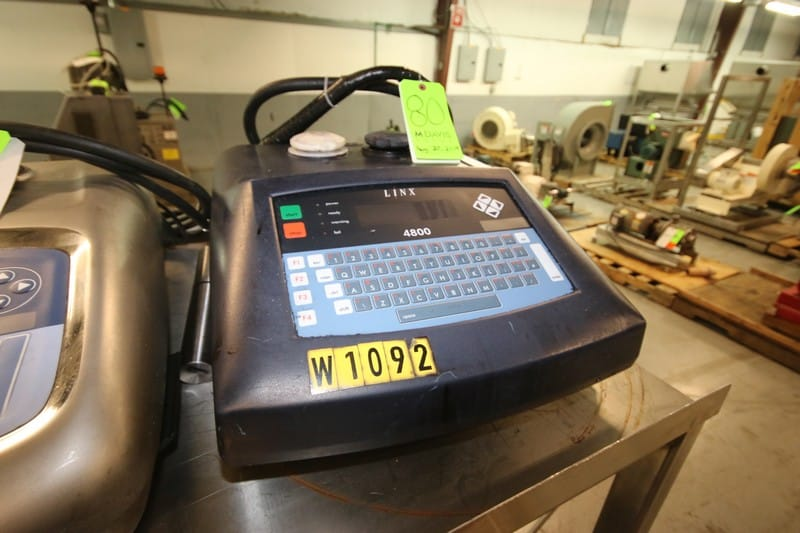 Linx Ink Jet Coder, M/N 4800, S/N BF108, with Ink Head (Rigging & Loading Fee $75.00) (Located in Pittsburgh, PA)