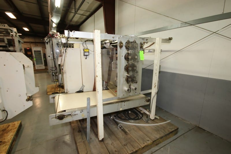 "Paxall Package Sealer, M/N V22MA8C, S/N 1001, 200 Volts, 3 Phase, with Aprox. 24"" W Inlet/Outlet Conveyor (Rigging & Loading Fee $250.00) (Located in Pittsburgh, PA)"