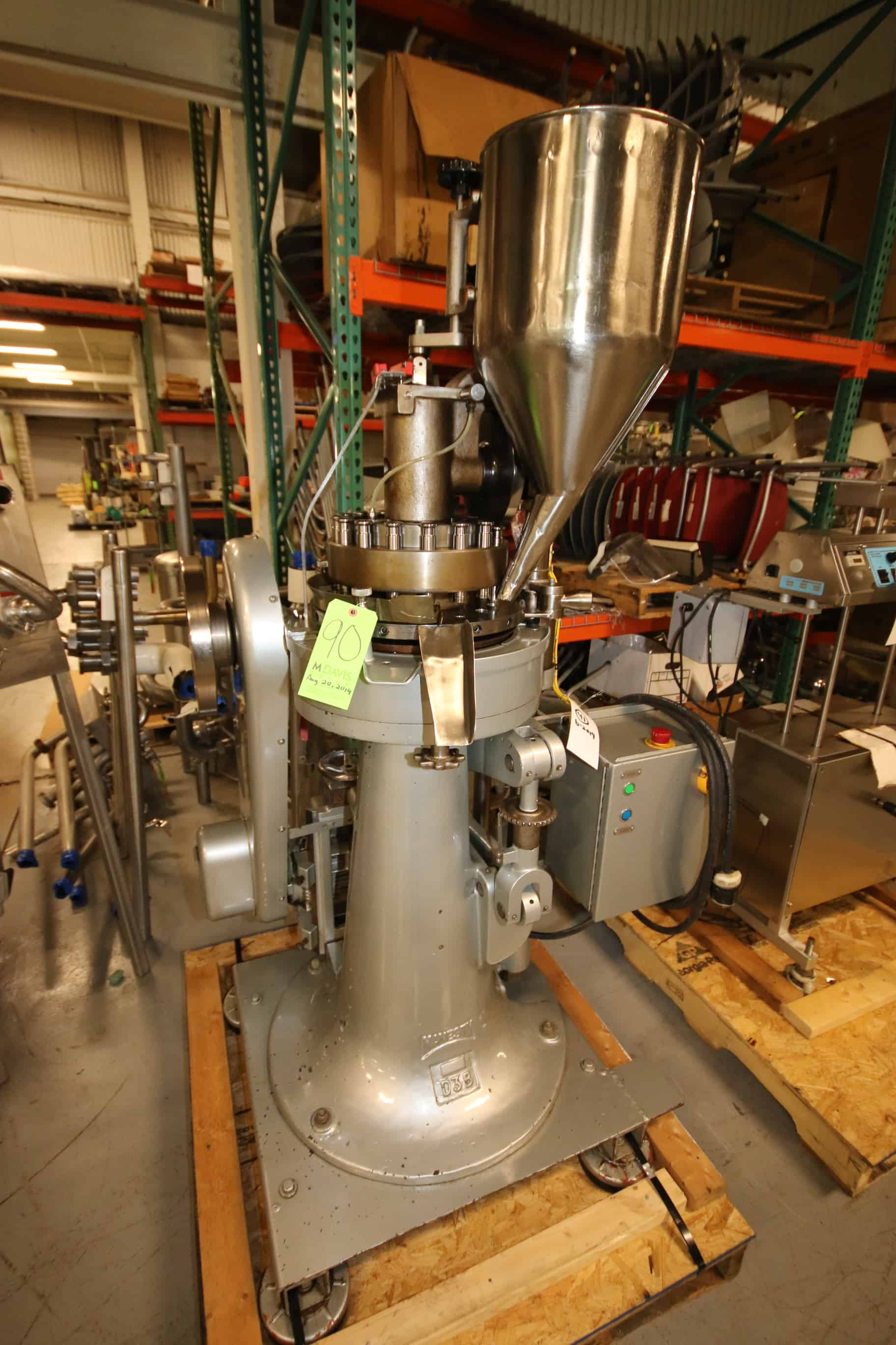 2009 Manesty 16-Head Rotary Tablet Press, M/N D3B, S/N 4D173, with Start/Stop Switch (Rigging & Loading Fee $150.00) (Located in Pittsburgh, PA)