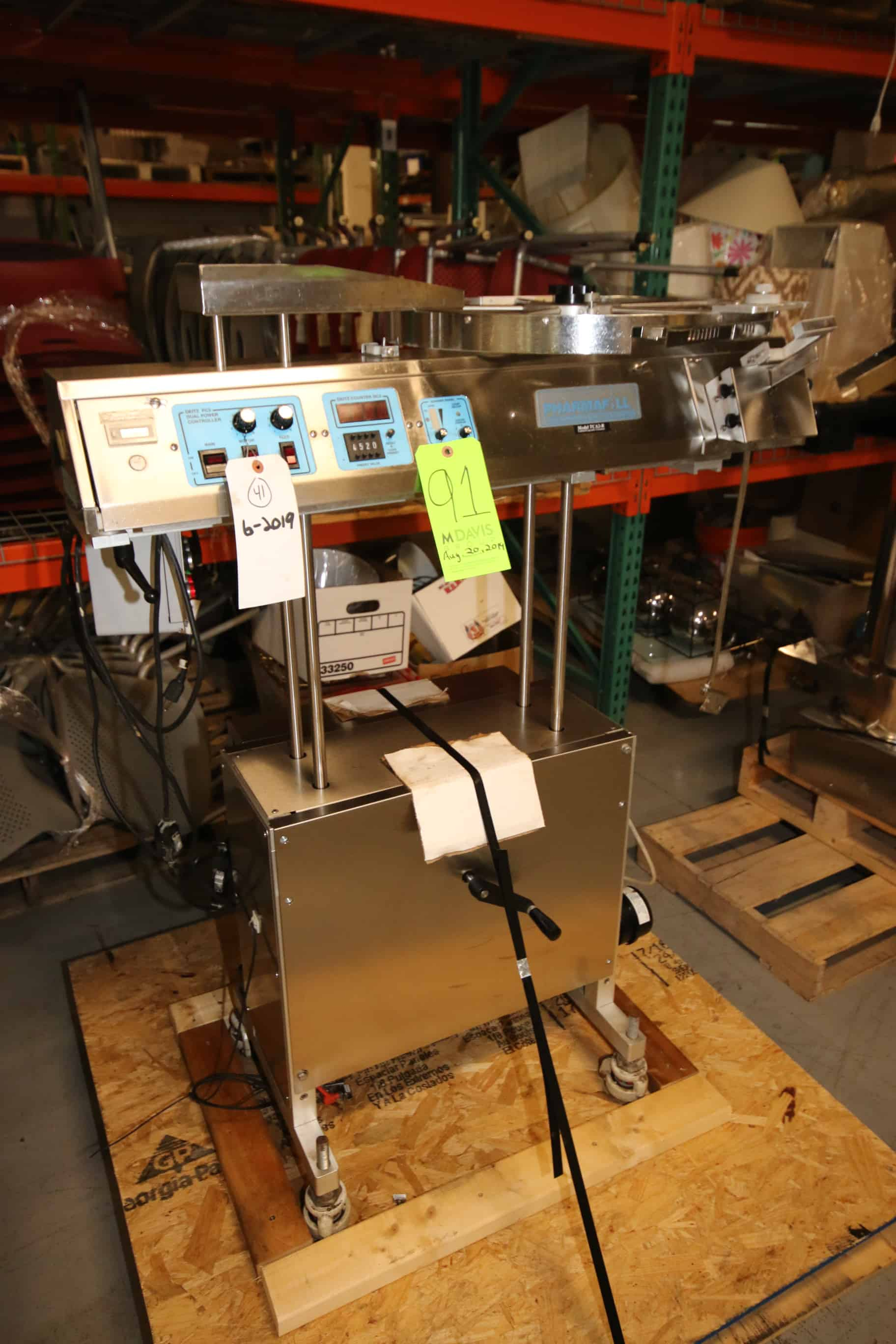 Deitz S/S Tablet/Capsule Counter, M/N TCA2-R, S/N M2012, 115 Volts (Rigging & Loading Fee $100.00) (Located in Pittsburgh, PA)