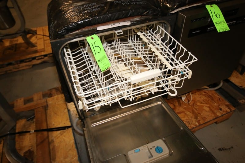 KitchenAid S/S Dish Washer, with Roll Out Wire Shelving (Rigging & Loading Fee $25.00)(Located in Pittsburgh, PA)