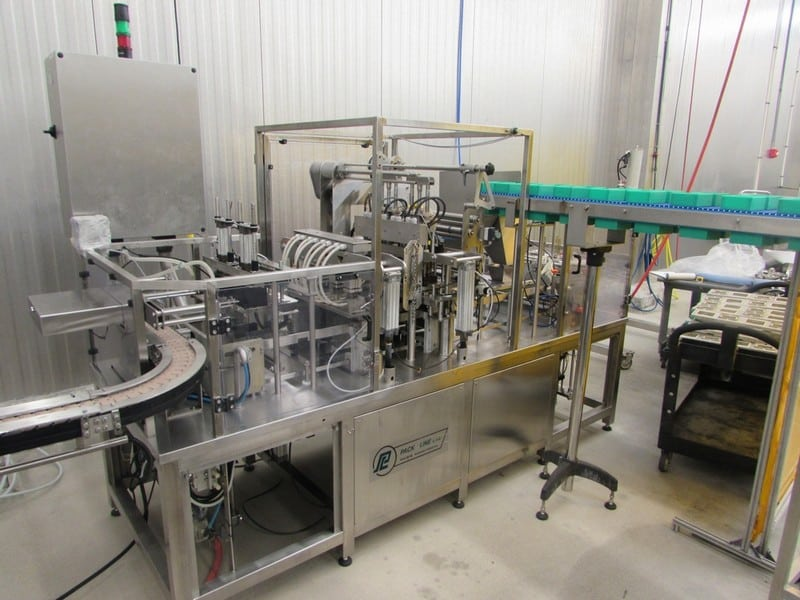 "2017 Pack Line 4-Wide Cup Filling Line, Model PXG-2, S/N PL700635, 2 x 2 Hummus and Pretzel Filler, Operated at 32 CPM, Over $313,000 Cost in 2017, Dimensions: 54"" W x 124"" L x 96"" H, Weight: 2,200 KG, Please contact M Davis Group for Electronic Copies of Manual, Electrical/Drawings (Asset No. 40-000510) (Sold Subject to Seller Confirmation of Bid)(SUBJECT TO BULK BID IN LOT 20)"