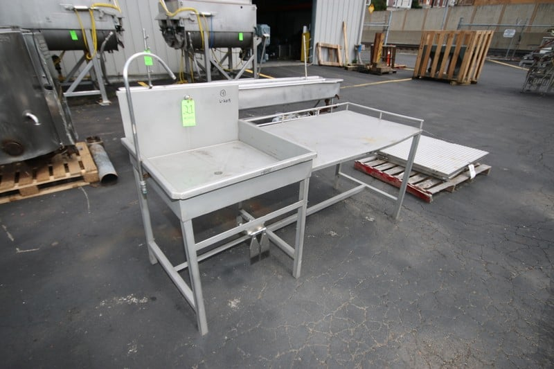 "S/S Sink and Counter Unit, Sink Includes Knee Controls, Overall Dims.:  Aprox. 78"" L x 47"" Tall (Rigging & Loading Fee $25.00)(Located in Pittsburgh, PA)"