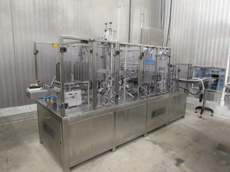 "2013 Packline Filling Line PXG-2x4, S/N PL700565, 2 OZ 8 Up; 240 units per minute; 45"" wide x 136"" long x 82"" High, Over $250,000 Cost in 2013 (Subject to Bulk Bid Lot 25)"
