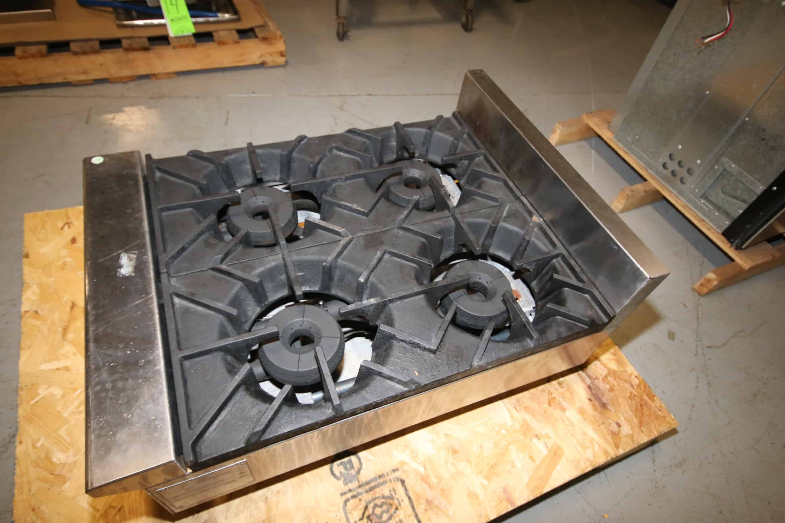 Wolf 4-Burner S/S Stove, M/N AHP424-4, S/N 658, Mounted on S/S Legs