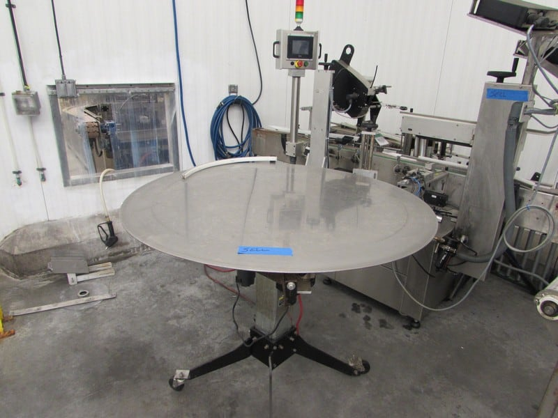 "Belcor Industries, Inc. 48"" Diameter Accumulation Table, Model A46, S/N 50007 (Asset No.40-000138)(Subject to Bulk Bid Lot 25)"
