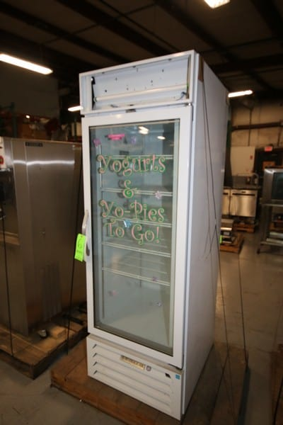 "Beverage-Air Vertical Refrigerator, with Glass Sight Door, Overall Dims.:  Aprox. 34"" L x 27-1/2"" W x 79"" Tall (Rigging & Loading Fee $25.00)(Located in Pittsburgh, PA)"