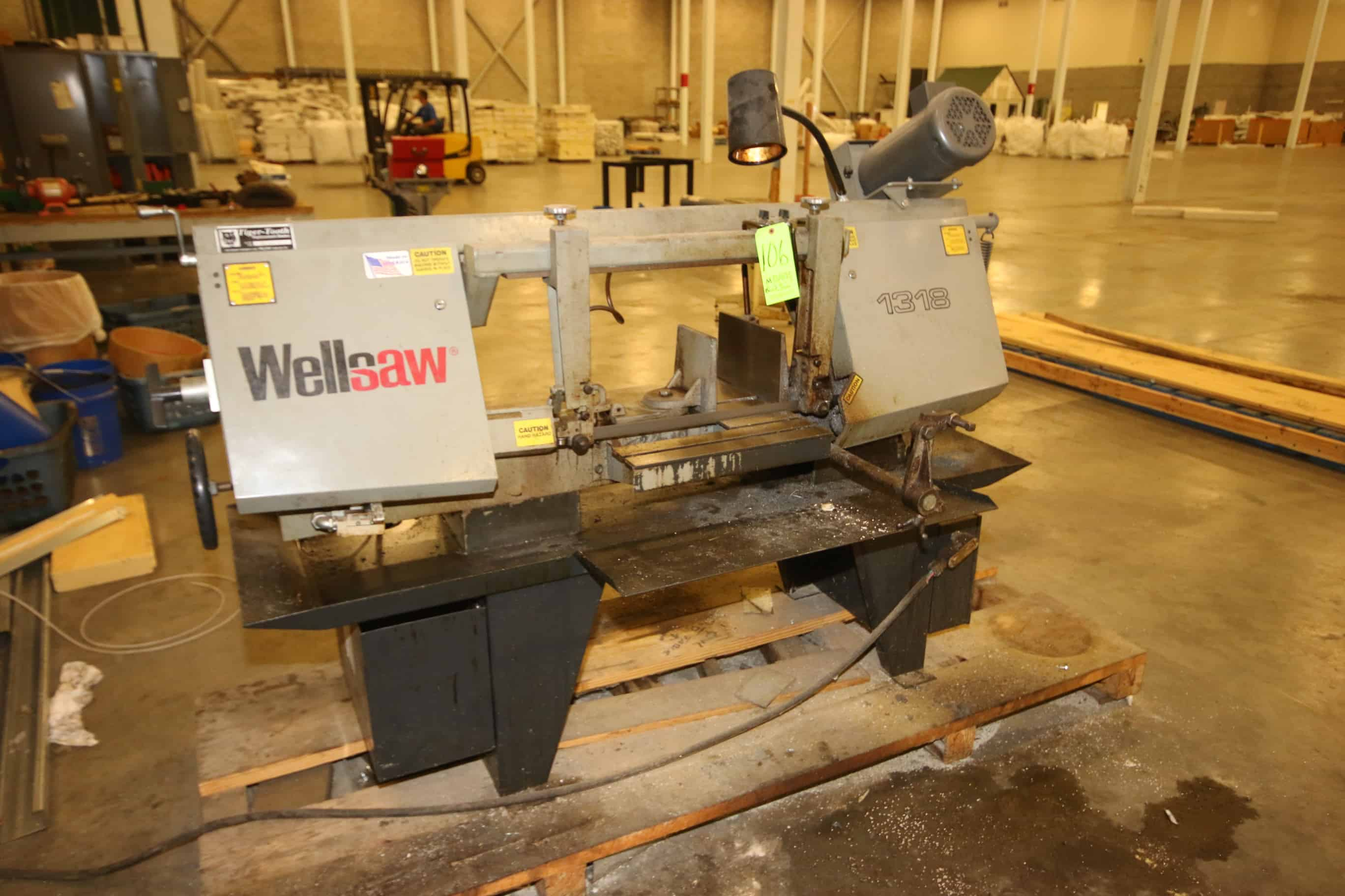 """Wellsaw Horizontal Band Saw, M/N 1318, with Tiger Tooth Blade, Blade Size 1X035X150, with 20"""" W Working Area"""