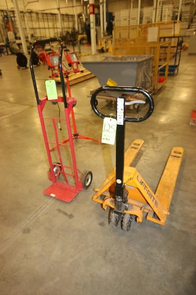 """Lift-Rite 5,000 Capacity Hydraulic Pallet Jack, with 48"""" Long Forks, with 400 lb. Capcity Dullie"""