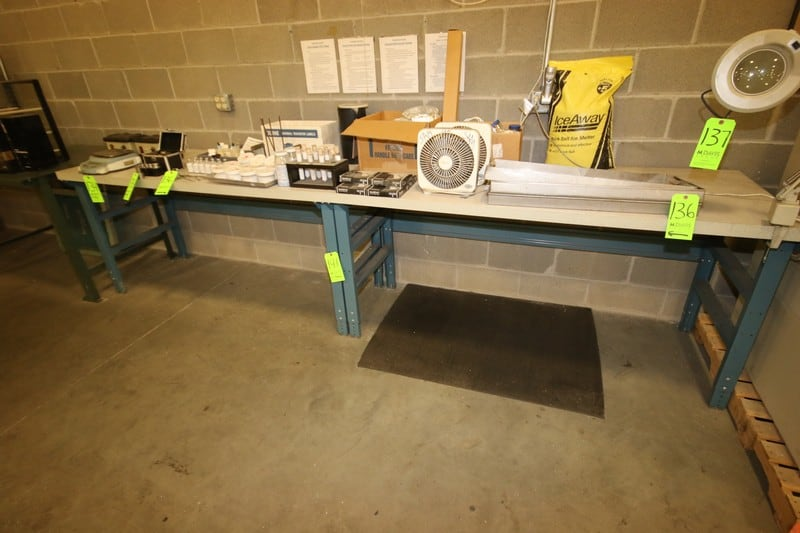 """Lab Tables, Overall Dims.:  Aprox. 72"""" L x 30"""" W x 35"""" H"""