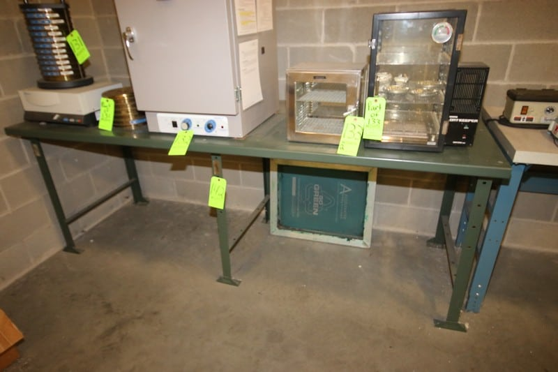 """Lab Table, Overall Dims.:  Aprox. 96"""" L x 37"""" W x 35"""" H"""