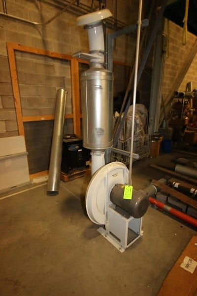 10 hp Blower, with Baldor 3500 RPM Motor, with Vertical Aluminum Chamber (NOTE:  Works with Bulk Storage Bin)