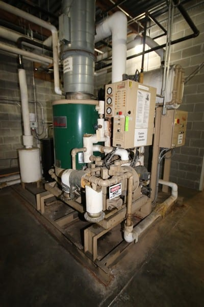 Clayton Steam Generator, M/N EG-60-2.5, S/N 24264, with Blower & Hot Well Tank, Mounted on Skid