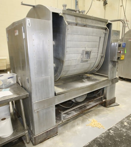 "Peerless 1,000 lb. S/S Roller Bar S/S Dough Mixer, Model 555HD, SN 86019, with Touch Pad PLC Controls, Aprox. Dim. 8 ft L x 82"" W x 90"" H, Asset No. 191"