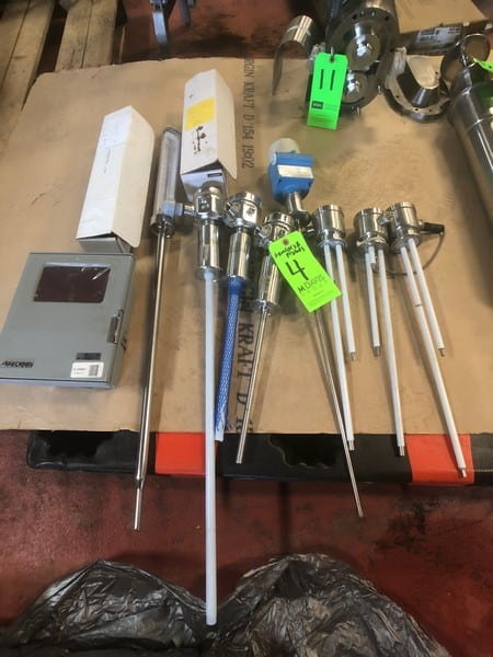 Various Level Sensors, Temperature Probes and Digital Read Outs (Believed to be New)