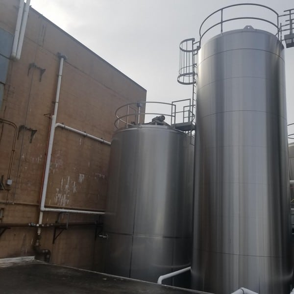 WCB All S/S 20,000 Gal. Jacketed Silo with Vertical Agitation