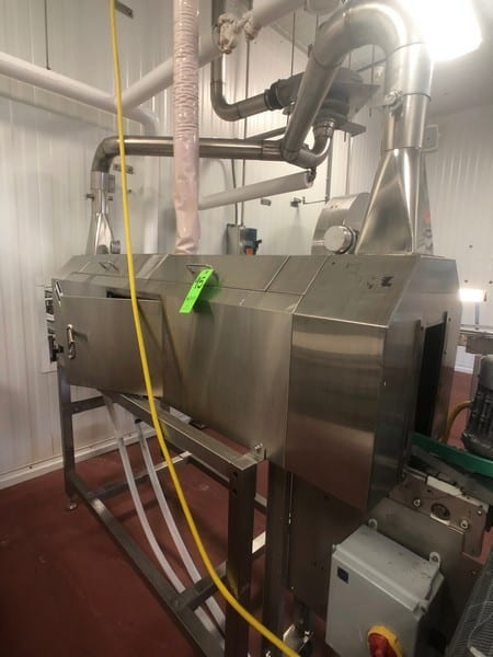 Precision Stainless Machinery Co Steam Shrink Tunnel, Model NSTS-2000, S/N 1112904-5036663 Previously Running with PacTec and Filler Specialties Fillers (Lots 92 & 93), Includes Conveyor