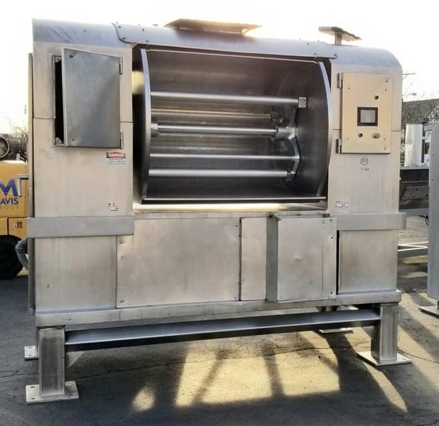 "RB Works All S/S Dough Mixer, with 48"" L x 37"" W x 36"" D, with 75 hp / 1190 rpm Motor, 208 / 230 - 460V 3 Phase, Touch Pad Display, On - Board Control Box, (Aprox. Dim. 110"" L x 64"" W x 98"")"