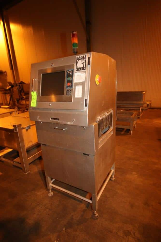 "Eagle X-Ray Machine, M/N EGL-PACK, S/N 000189, 220 VAC, 50/60 Hz, with 21"" W x 8"" H Product Opening (NOTE: Missing Run Through Conveyor)(LOCATED IN BROCKPORT, PA)"