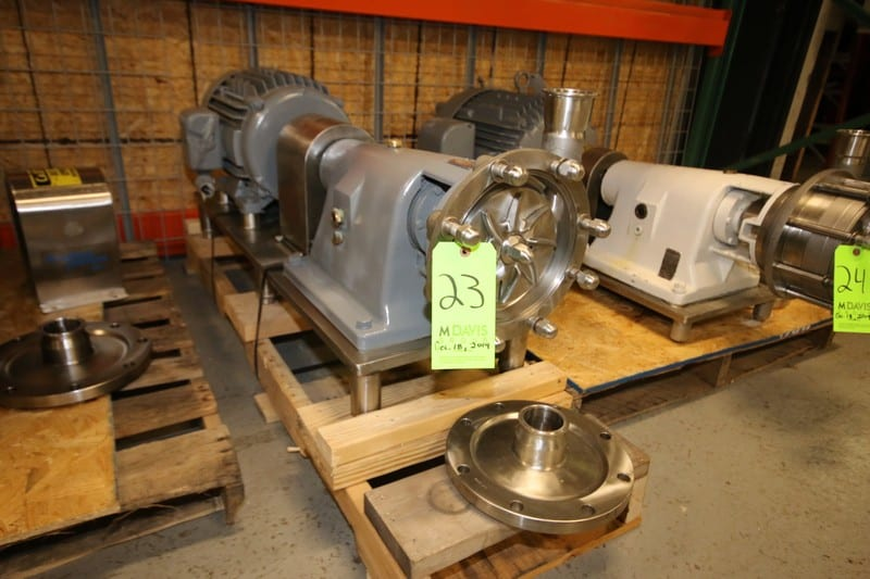 "Fristam Multi Stage High Pressure S/S Centrifugal Pump, Model FM312-175, SN 72255, with 2.5"" Clamp Type S/S, Baldor Aprox. 10 hp Motor, Mounted on S/S Frame (Located in Pittsburgh, PA @ MDG Auction Showroom--$100.00 RIG FEE)"