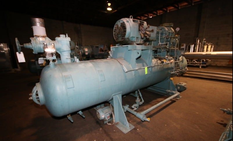 "1998 Frick hp 250 hp Screw Ammonia Compressor, Frame Model RWBII316B, SN S0415TFMFL0AA0, Screw Head Model / SN TDSH283S1930G, with Ram 3570 RPM Motor, 230/460V 3 Phase, with Quantum HD Touch Pad Controller, (Aprox. Overall Dim 16'4"" L x 6 ft W x 94"" H), Unit #C11 (Located at the M Davis Group Auction Showroom in Pittsburgh, PA) (Rigging, Handling & Site Management Fee $1,250.00)"