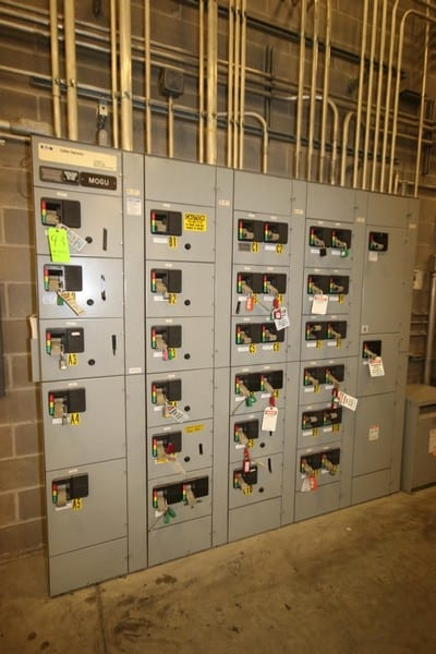 "Cutler-Hammer 25-Bucket Motor Control Center, Series 2100, Overall Dims.: Aprox. 100"" L x 19"" W x 90"" H (Located in Leetsdale, PA)"