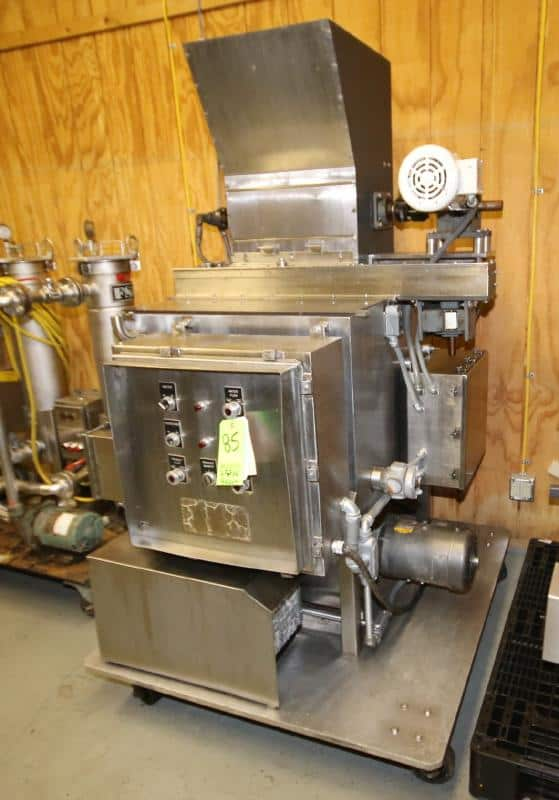 """Fedco Portable S/S Butter / Kettle Mixing System, Model WS BMA, SN 170, with 29"""" W x 30"""" D"""" W Hinged Lid Scrape Surface Mixer, 18"""" W Water Heated Top Mounted Roller with Condenser & Circulation Pump, APV Positive Displacement Pump & On-Board Controls, 208 - 230 / 480V 3 Phase(Located at the MDG Showroom in Pittsburgh, PA)"""